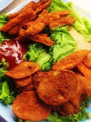 Salad Potato Fries & Salad Potato Mojos