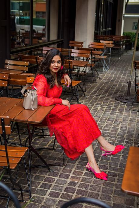 kate spade dress, kate spade heart shoes, kitten heels, valentines aday dress, street style, fashion , style, saumya shiohare, myriad musings