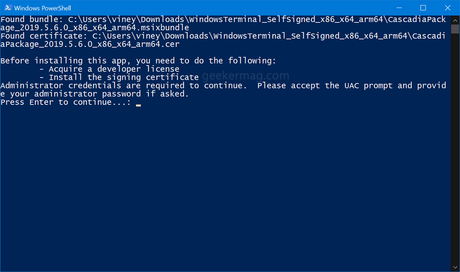 install windows terminal in windows 10