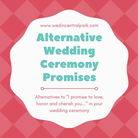 Alternative Wedding Ceremony Promises