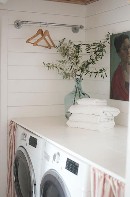 my dark little laundry room transformation!
