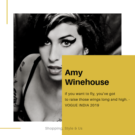 Amy Winehouse's bold and high winged eyeliner!