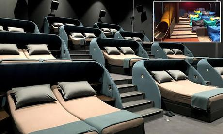 cinema experience ~ recline in double bed and enjoy !!