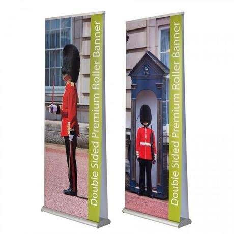 double-sided premium roller banner