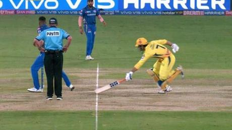 Infinite Tucker leaps to glory ... Dhoni too is run out !!