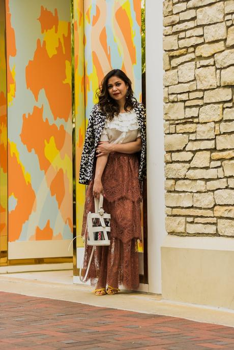 H& M lace skirt, crop top white, summer style, spring outfit, fashion blogger, street style, ootd, DC blogger, saumya shiohare, myriad musings