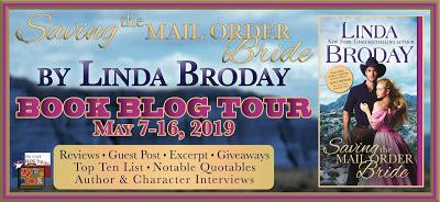 Saving the Mail Order Bride by Linda Broday- Feature and Review