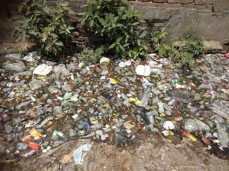 open drain in Noida, India