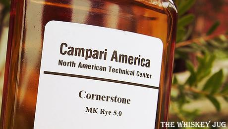 Label for a sample of the Cornerstone Rye