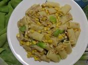 Salade Pâtes Thon, Choy Maïs Sucré Pasta Salad with Tuna, Sweet Corn Ensalada Maiz Dulce سلطة المعكرونة التونا الملفوف الصيني الذرة الحلوة