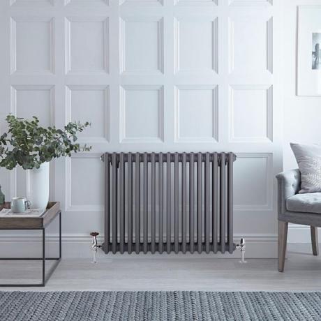 Milano Windsor anthracite column radiator.