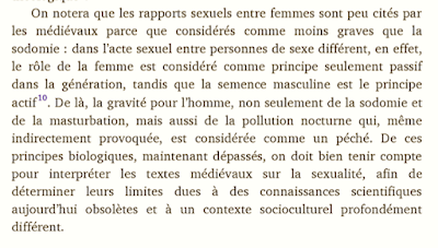 Notes on Adriano Oliva's Amours: L'Église, les divorcés remariés, les couples homosexuels — On Sexual Relations Between Women as Less Sinful Than Sodomy