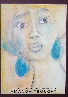100 Day Project - 100 Pastel Sketches 33 - 40