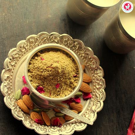 Make your very own Instant Thandai Mix so you'll always be ready with a refreshing, healthy and quick drink on a hot summer day!