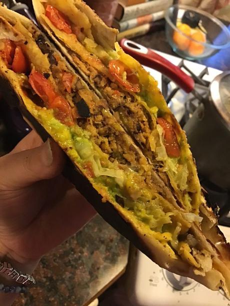 Vegan Chorizo Crunchwraps