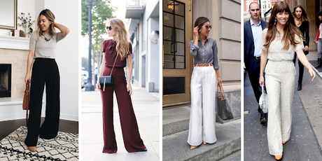 Outfit ideas for styling wide leg pants