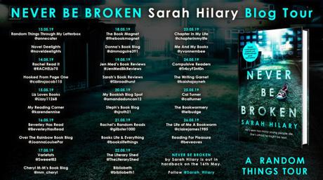 Blog Tour – Never Be Broken (DI Marnie Rome #6) – Sarah Hilary