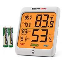 ThermoPro TP53 Hygrometer Humidity Gauge Indicator