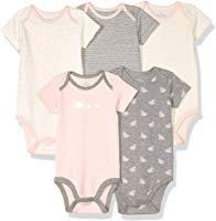 Baby Set of 5 Organic Short-Sleeve Bodysuits
