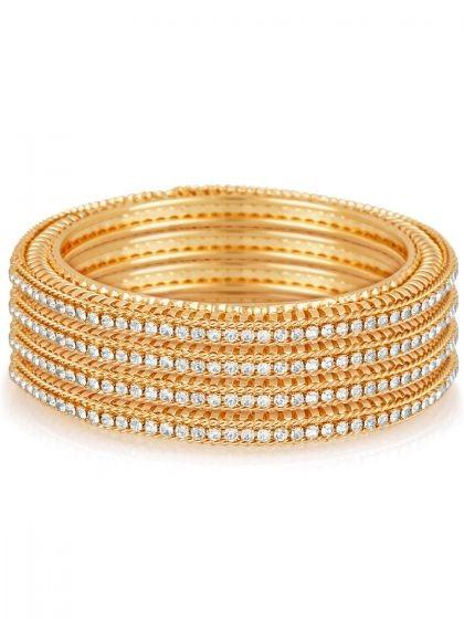 golden-and-off-white-metal-party-bangles