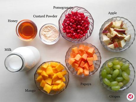 How to make Easy Fruit Custard?