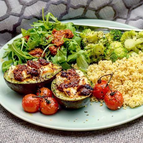 Recipe|| Sundried Tomato & Feta Baked Avocado