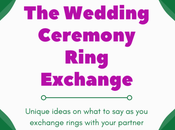 Ring Exchange Your Wedding Ceremony Ideas What
