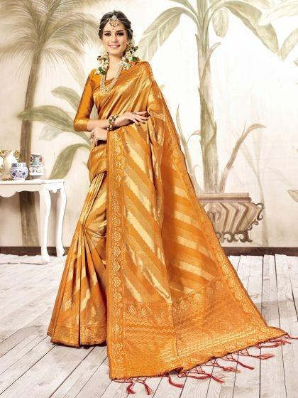 gamboge-yellow-art-silk-kanjeevaram-festival-saree