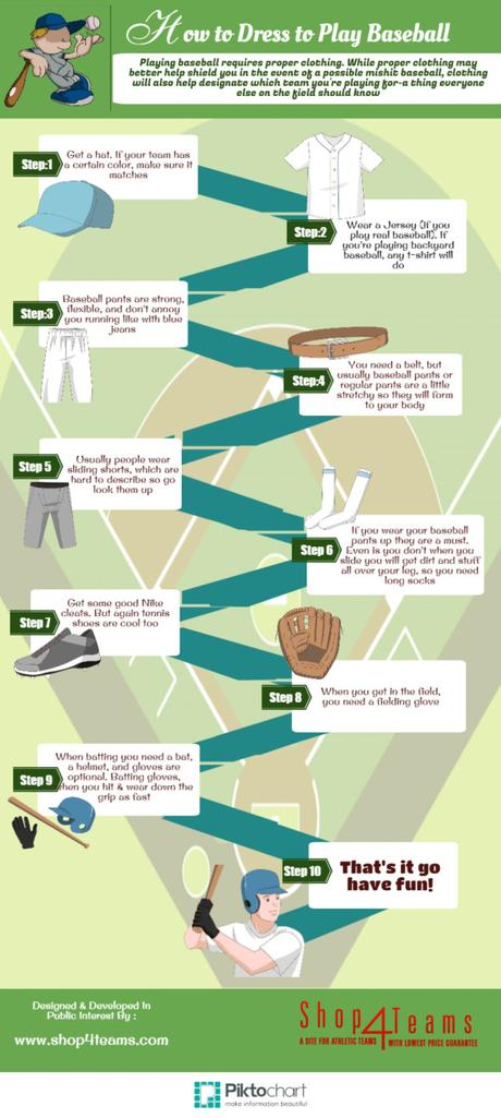 Infographic: How to Dress to Play Baseball