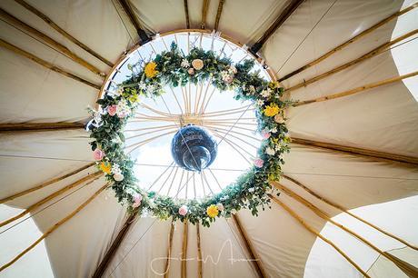 Greenwood Grange tipi Wedding