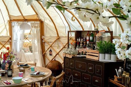 Greenwood Grange Yurt Wedding Interior decor