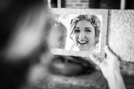 Bride getting ready at Greenwood grange