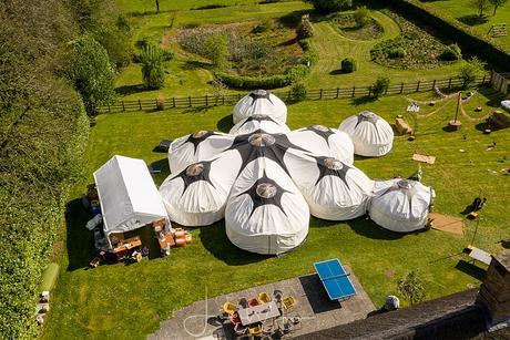 Greenwood Grange yurt Wedding