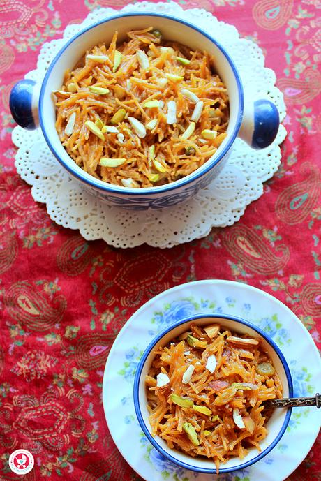 Meethi Seviyan/ Sweet Vermicelli is a delicious Indian dessert made with whole wheat vermicelli. It's a simple yet scrumptious recipe for toddlers.