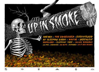 UP IN SMOKE INDOOR FESTIVAL 2019 CONFIRMS MONOLORD + CHURCH OF MISERY + THE MACHINE + FIREBREATHER + E-L-R !