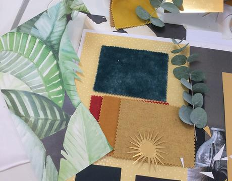Create a mood board to help you choose your interior decor color palette