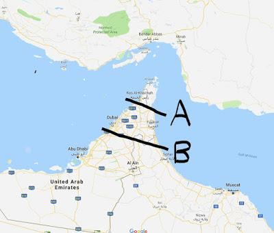 Just dig a canal across the UAE, problem solved.