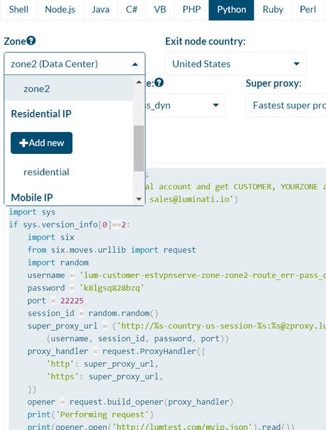 Luminati Python API