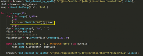 My sample to use Soup - find element by xpath