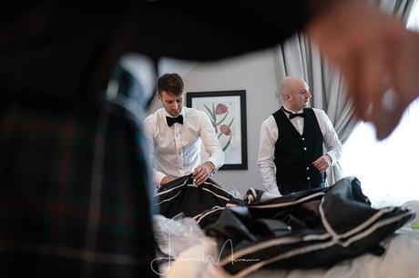 Groom and Groomsmen getting ready