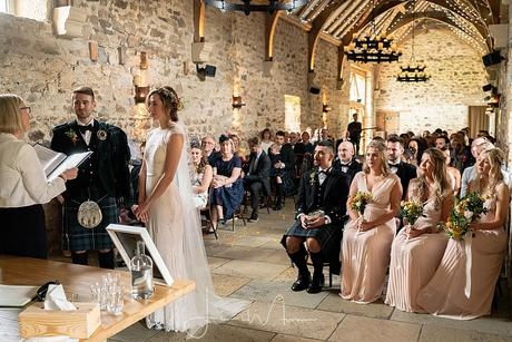Healey Barn Wedding ceremony