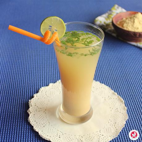 Sattu sharbet is a protein-rich drink and an excellent summer coolant. It's is a vegan, no-cook and gluten free recipe which can be made in a jiffy.