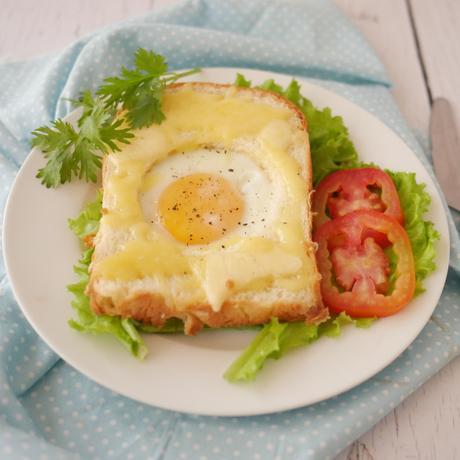 An Egg in my Cheesy Toast