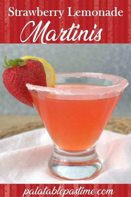Strawberry Lemonade Martini #NationalMartiniDay