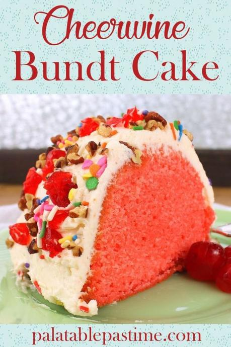 Cheerwine Bundt Cake #BundtBakers