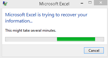 [Fix error] Microsoft Excel is trying to recover your information