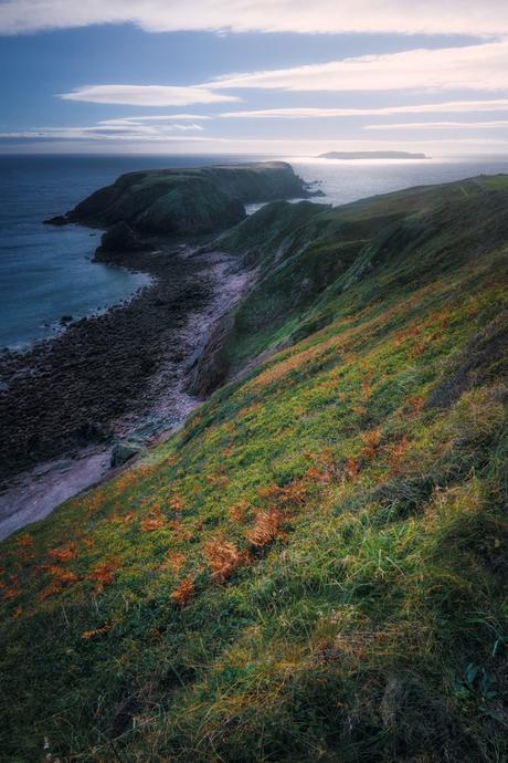 View of coastline of Pembrokeshire