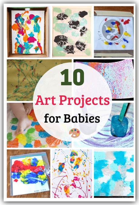 10 Easy And Fun Art Projects For Babies With Paint Recipes