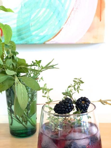 Herb Infused Blackberry Cocktail