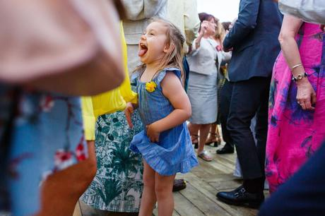 a young guest on the dancefloor